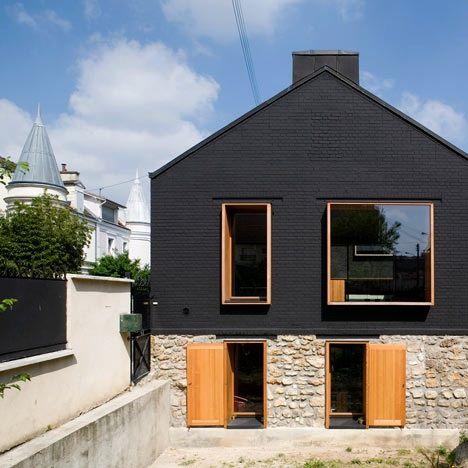 Urban Stone House In The Bois Colombes Paris   By Moussafir Architectes  Associes Picture 4