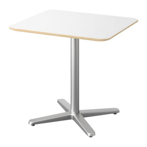 BILLSTA Table, white, silver-colour