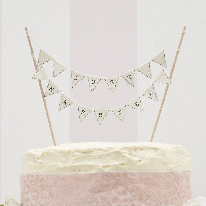 Just married cake topper Ivoor Ginger Ray