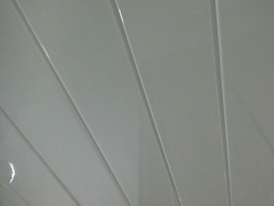 6 White V-Groove Ceiling Panels PVC Plastic Wall & Ceiling Bathroom Cladding