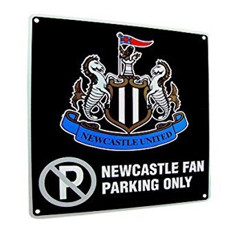Newcastle United FC. No Parking Metal Sign: Amazon.co.uk: Welcome