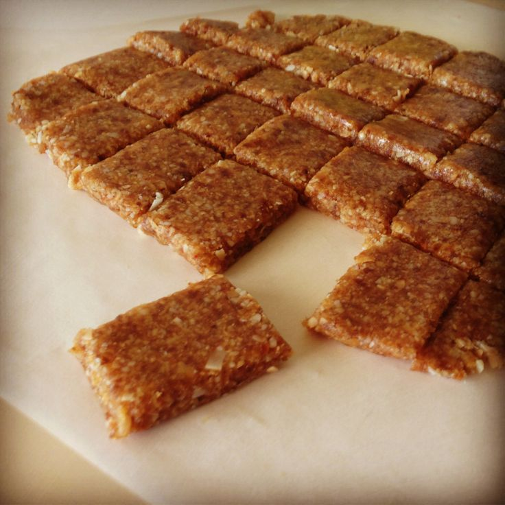 Liar Bars. Dana made these and they are soooooo good. very few ingredients and they whip up quick. It's like a Paleo granola bar...kinda. sweeter and softer.