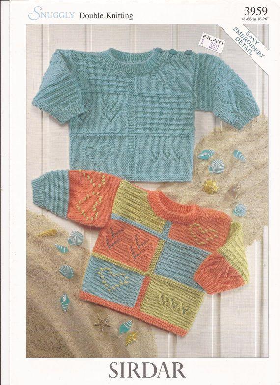 Sirdar Snuggly DK Knitting Pattern 3959 Sweaters w/ by brokemarys, $3.99
