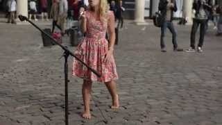 Barefoot Street Performer SHOCKS Audience with her beautiful voice - Sammie Jay 95.7 KJR - YouTube