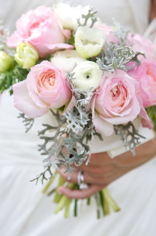 Love the light pink color of these roses. Photo by Sarah DiCicco Photography | junebugweddings.com