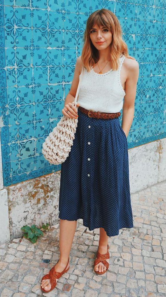 8 Skirts You Can Try This Summer, If Sundresses Aren't Your Thing.  Chic, cute, and fresh outfits with skirts you can wear during the summer.