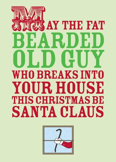 Bearded Break In - Christmas Greeting Cards in Sage | Magnolia Press Personalized Funny Christmas cards from Treat.com
