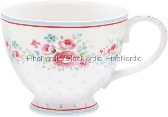 GreenGate Tekopp Stoneware Teacup Tess White