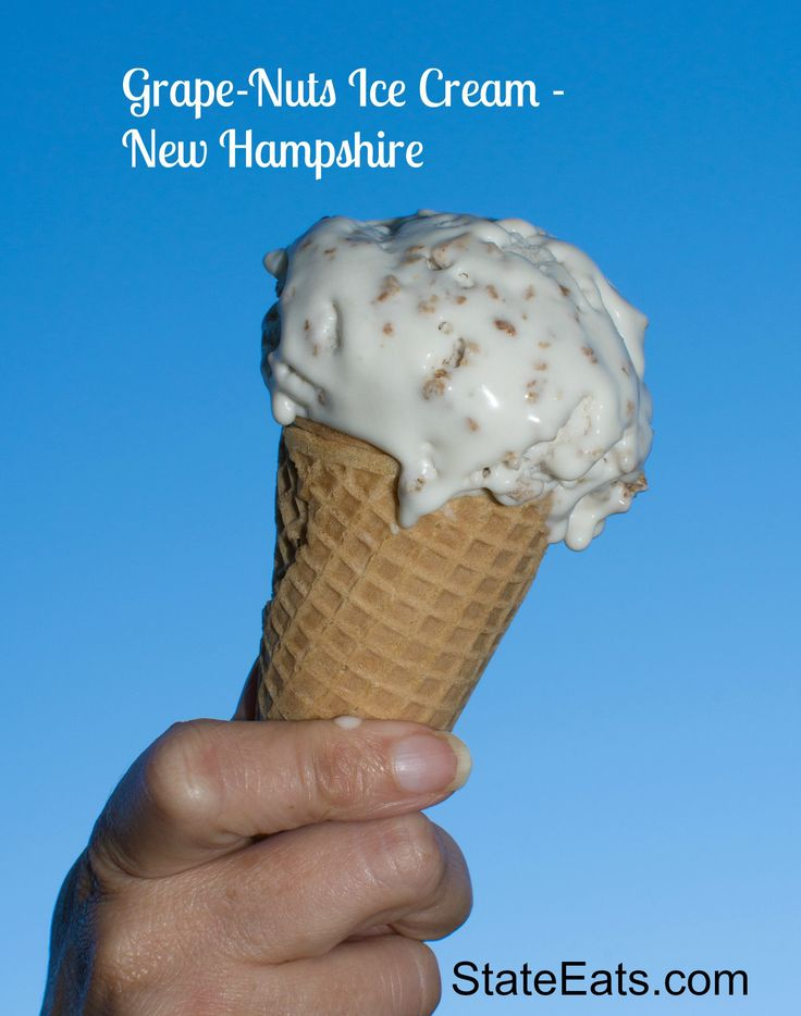 Grape-Nuts Ice Cream is a New England treat, vanilla base with cereal ...
