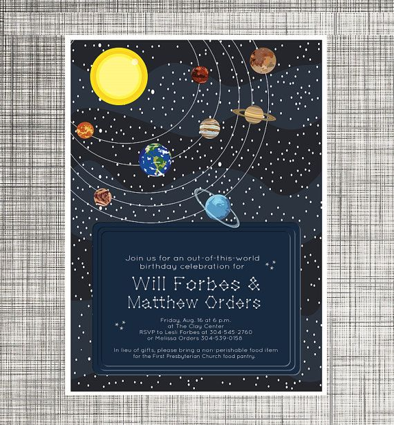 Space Invitations Printable Planets And Stars