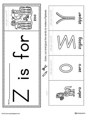 letter z beginning sound flipbook printable alphabet worksheets preschool letter crafts. Black Bedroom Furniture Sets. Home Design Ideas