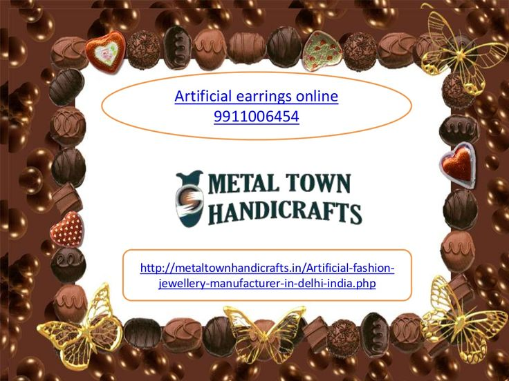 Artificial earrings online 9911006454 delhi india, gurat bangles, nacklace by Metaltown Handicrafts via slideshare