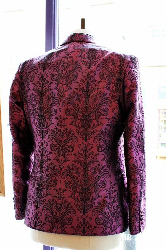 The Versailles Jacket: baroque print on a purple background #baroque #jacket #purple