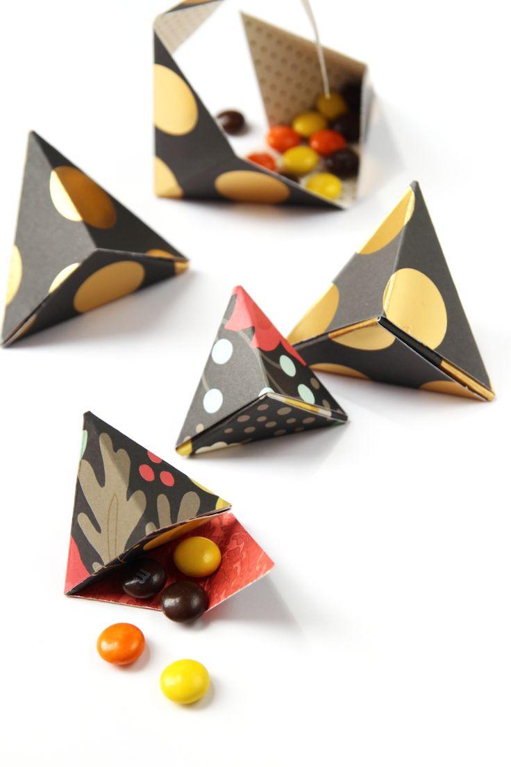 DIY: triangular origami boxes