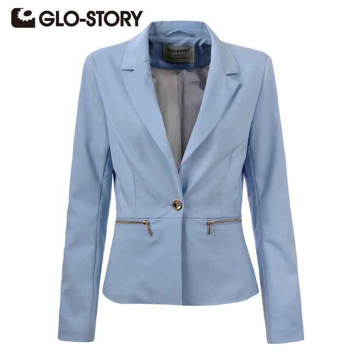 GLO-STORY 2017 New Arrive Spring Slim Women Blazer Coat Casual Women Jacket Long Sleeve One Button Suit Ladies Blazers Work Wear aliexpress.com