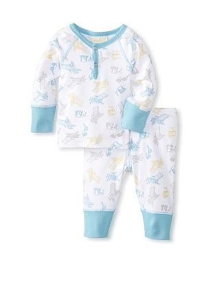 62% OFF Coccoli Baby Newborn Sunny Days Loungewear Set (Multi Beach Print Of Blue/Yellow)