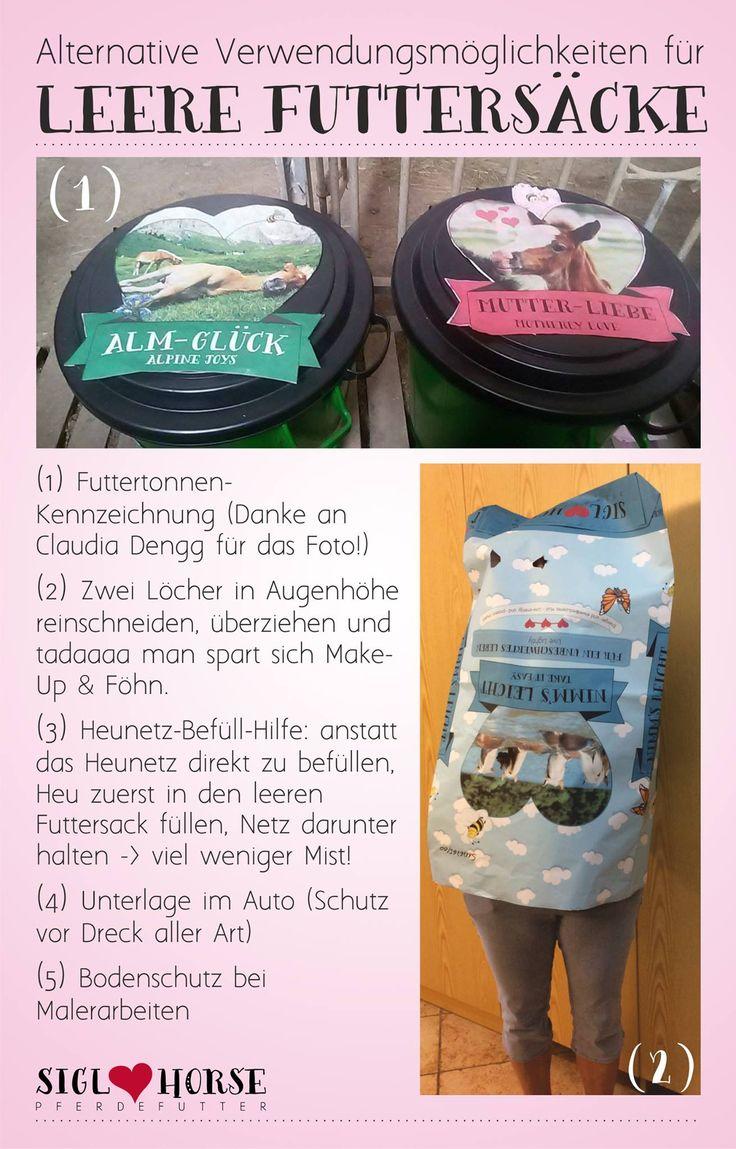 Alternative Verwendungsmöglichkeiten für leere Futtersäcke. #pferdefutter