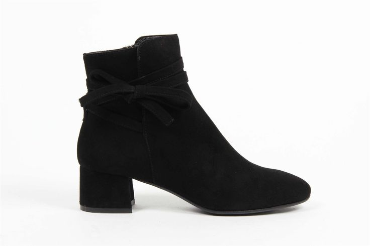 Versace 19.69 Abbigliamento Sportivo Srl Milano Italia Womens Ankle Boot 3141 CAMOSCIO NERO