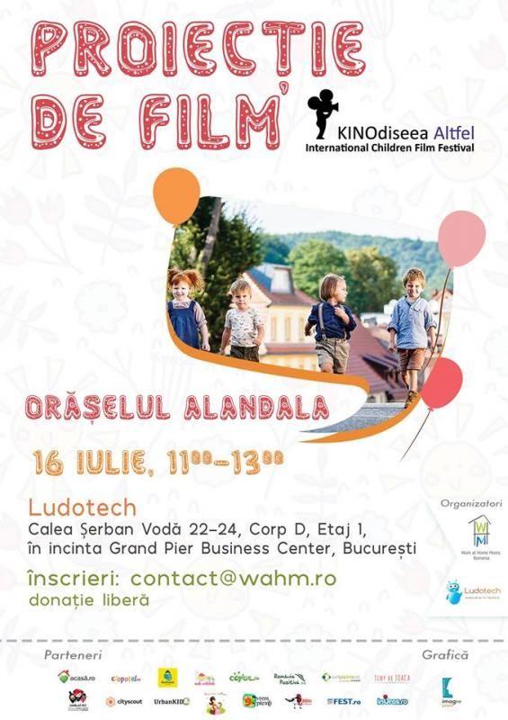 Asociatia Work At Home Moms va invita cu drag la doua proiectii de filme castigatoare din cadrul festivalului KINOdiseea - International Children Film Festival!