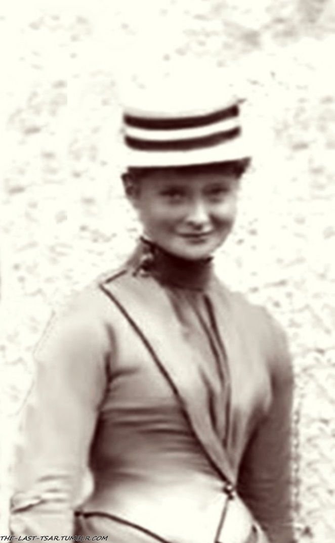 A very young and charming Alix of Hesse (later Tsarina Alexandra of Russia).