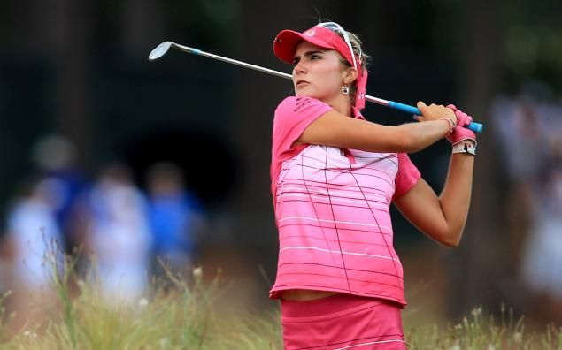 Lexi Thompson appears topless on latest Golf Digest cover Lexi Thompson  #LexiThompson