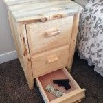 Secret Drawer Compartment in Nightstand - Furniture