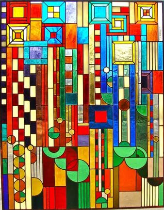 Voss Studio - Frank Lloyd Wright stained glass