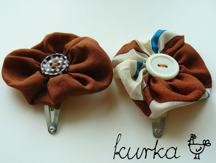 spinki handmade by kurka - turkus brąz