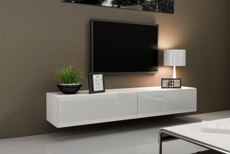 Väggmonterad TV-bänk - X Slide