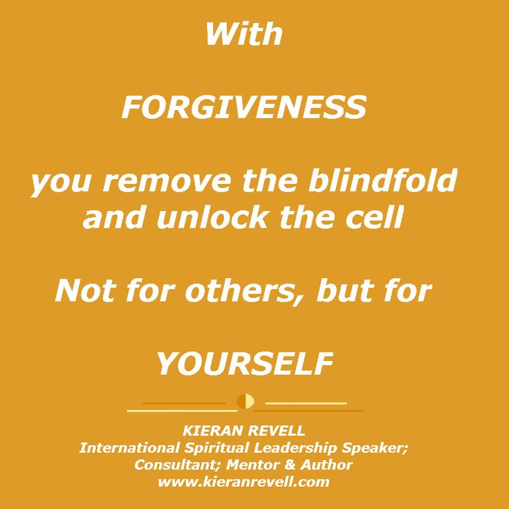 When you find the power to forgive, you allow the personal healing process to begin! X