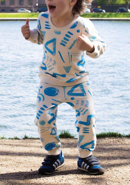 Boys SweatPants – Incakids Webshop #kids #apparel #pattern #sweatshirt #blue #incakids #hipster #poster #type #wave #blue #boy