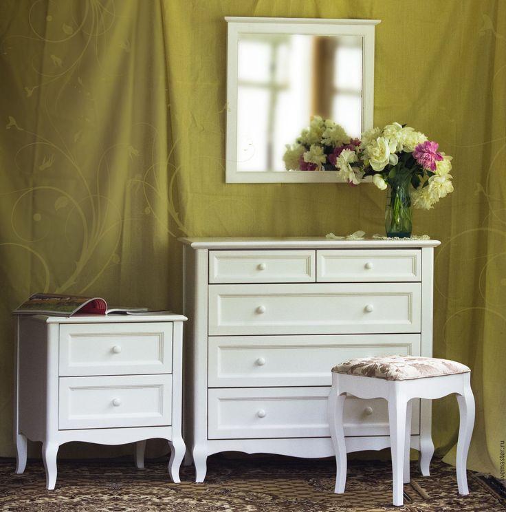 Купить Комод для спальни белый из дерева - белый, комод, комод прованс, мебель из дерева