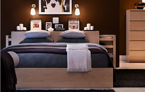 Ikea Malm Bed... I have this and it would be good for the guest room.  Just need a new headboard for the master.