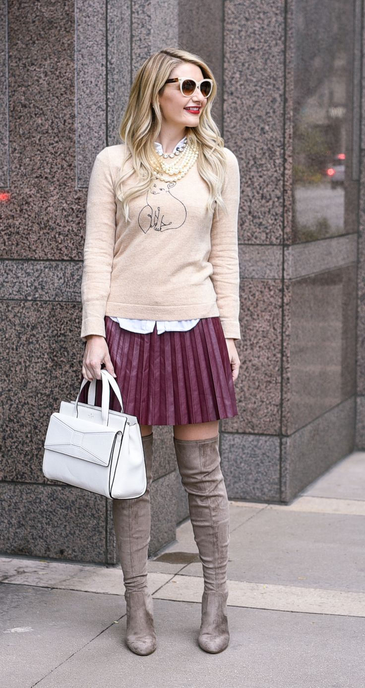 Fun and funky fall outfit! Love the layering and pleats!