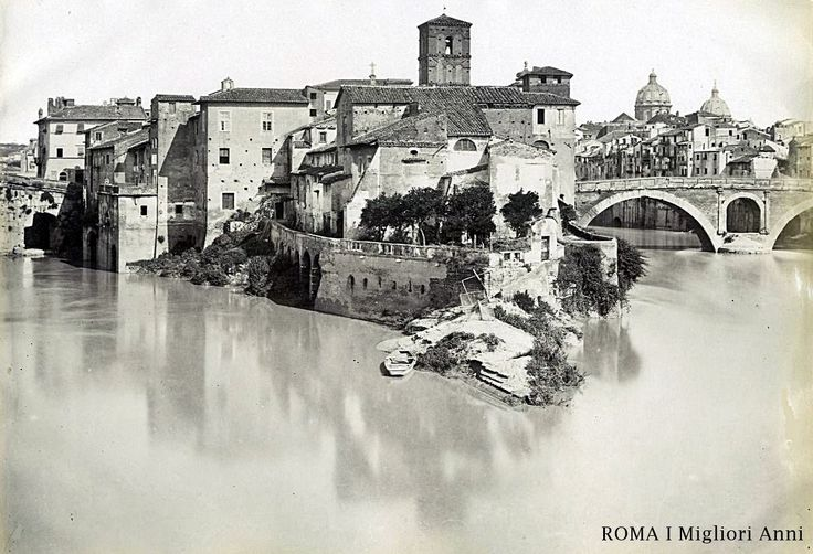 Isola Tiberina 1875.