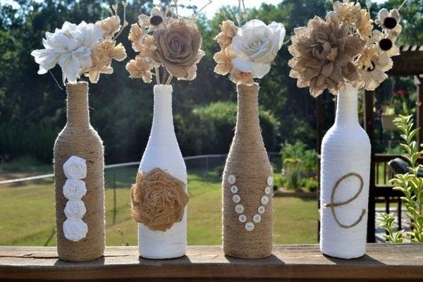 Upcycled Glass Bottle Vase — Crafthubs