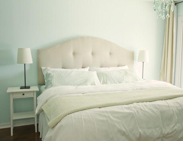 diy tufted king size headboard   DIY Upholstered tufted headboard http://jennasuedesign ...