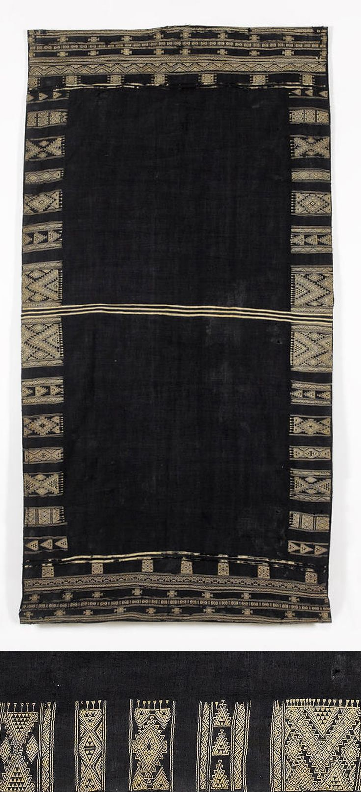 Africa | Shawl ~ Bakhnuq ~ from Tunisia | Wool and cotton