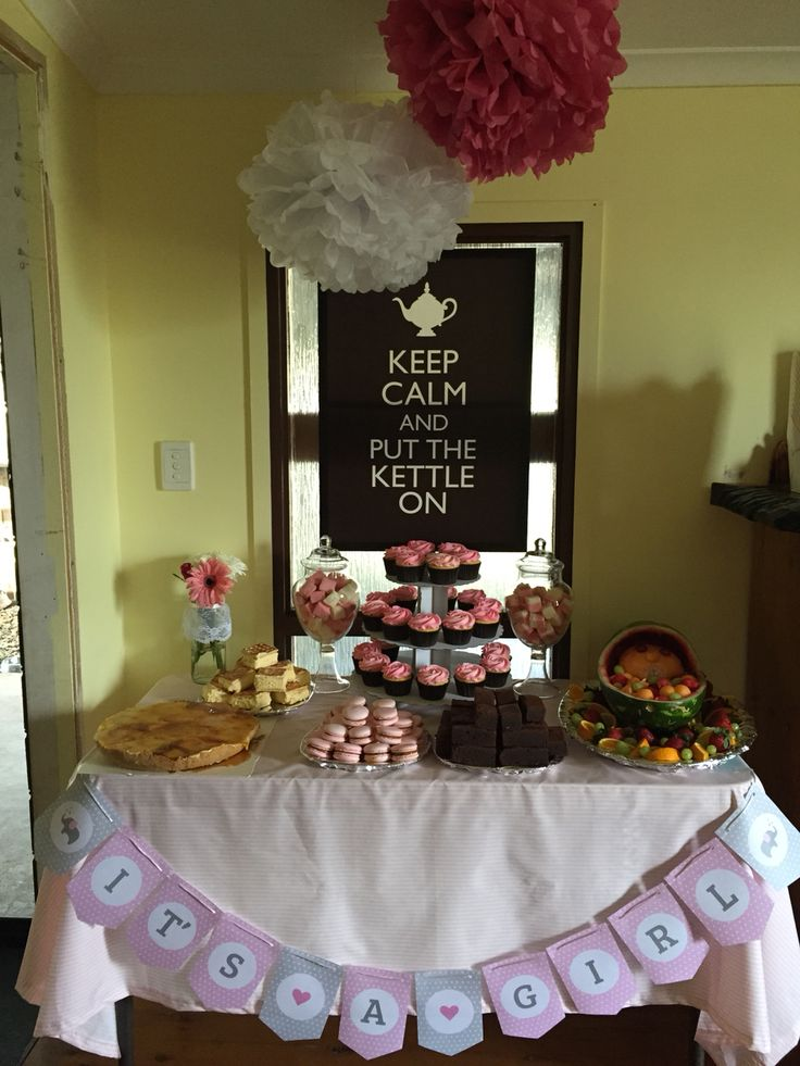 Sweet station for the baby shower