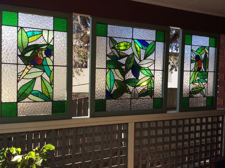 Stain glass screens. Gai Strakosch design