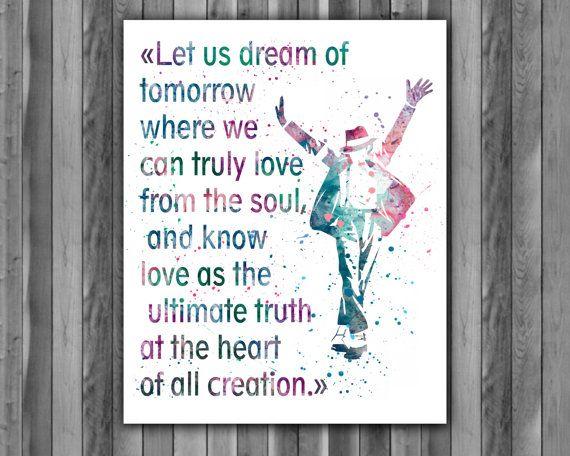 Michael Jackson quote Art Print Michael by digitalaquamarine82