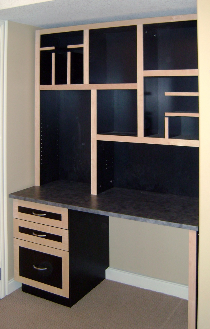 custom fit coordinating desk and hutch complete with monogram bookshelf