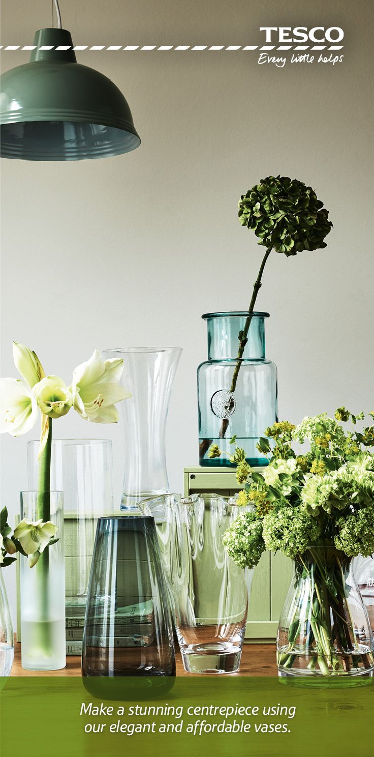 41 best home vase for flowers images on pinterest tesco direct from a blue tinted recycled glass vase at just 8 to a sleek reviewsmspy