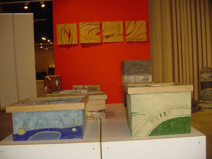 Wystawa Liceum Plastycznego z Opola w Dobrotece