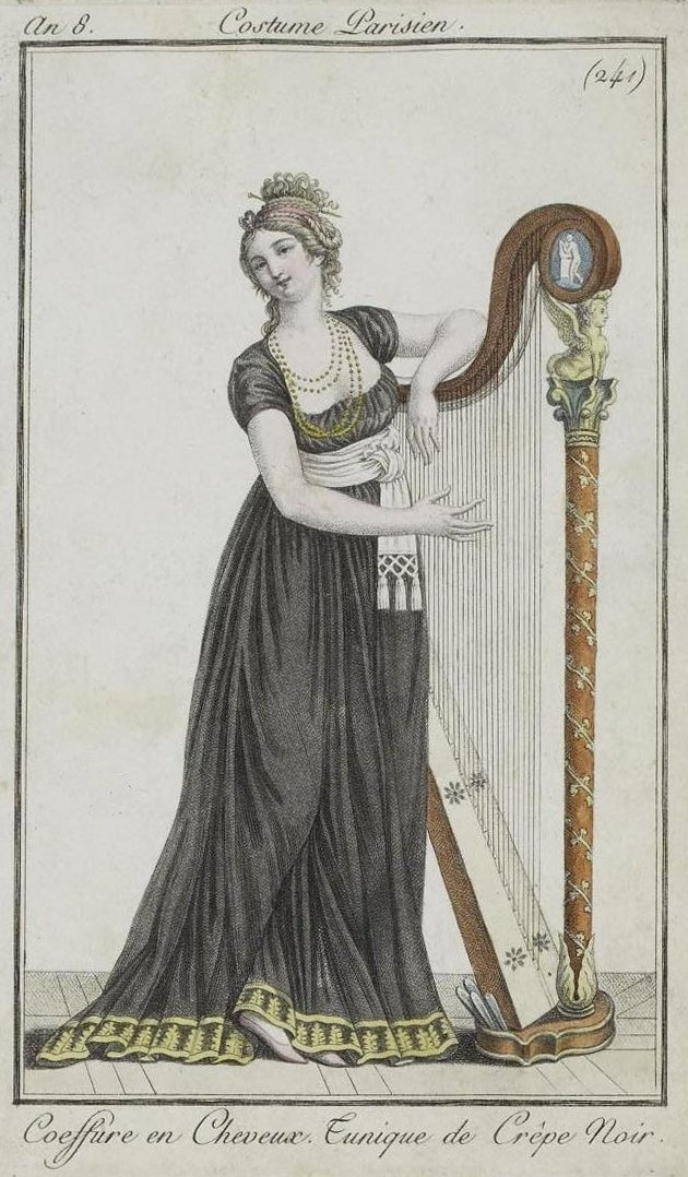 Costume Parisien 1800. Regency fashion plate.