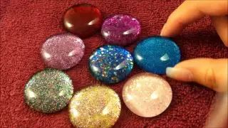 color stones with nail polish in water - YouTube