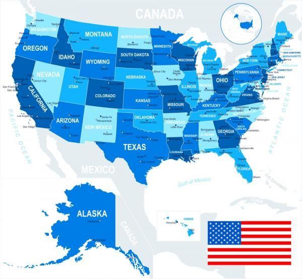 Lista De Los Estados De Estados Unidos Y Capitales Estados Unidos Wyoming Estados Unidos De América