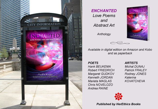 Enchanted - Love Poems and Abstract Art anthology - book cover original fractal art of ©Michal Dunaj