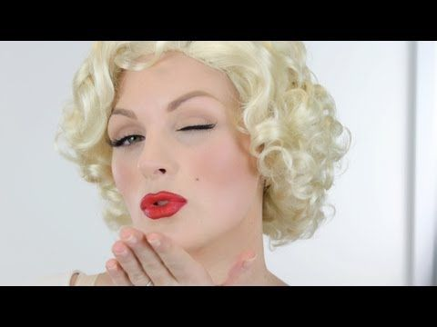 LOVE this marilyn monroe look! Will be using this if I can pull off the red lips