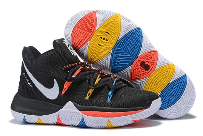 best website d3a53 2c5e5 Nike Kyrie 5 Friends PE Black Multicolor Basketball Shoes-2